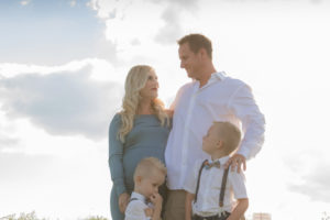 outdoor family maternity session in field