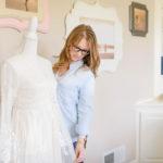 pittsburgh lifestyle photographer preparing client wardrobe