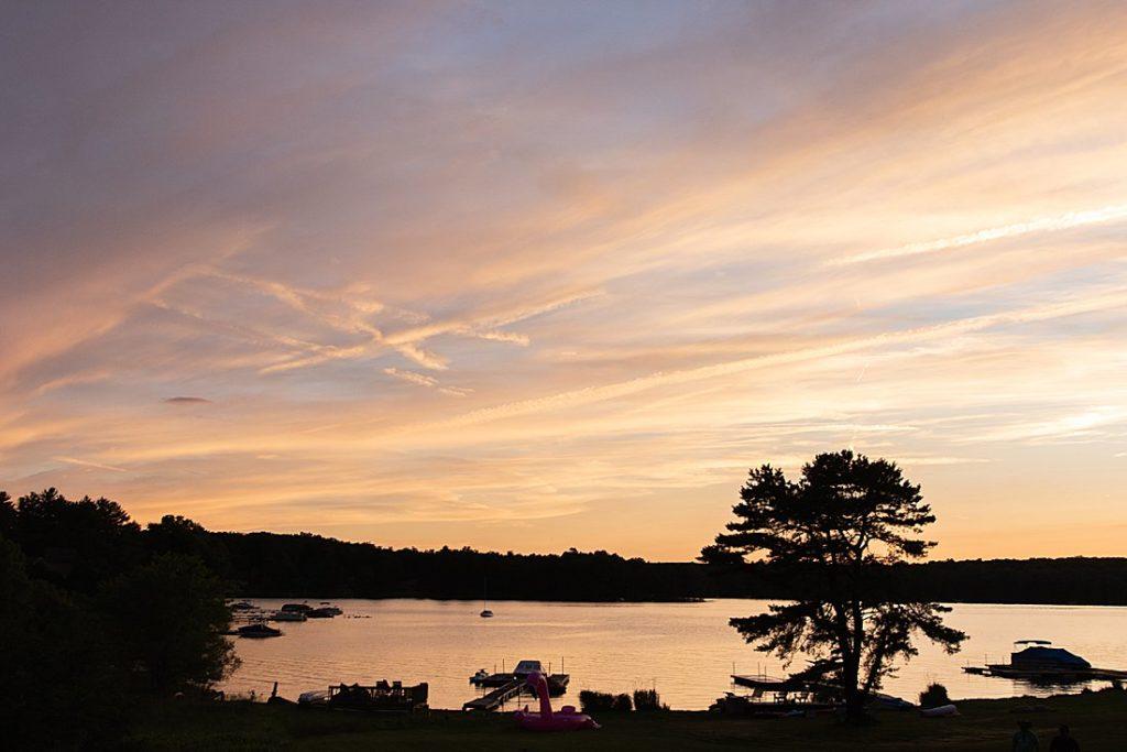 sunset at deep creek lake_petite magnolia Photography
