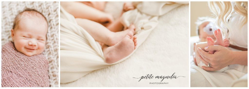 Newborn Session Details | Newborn Photography Pittsburgh collage of newborn details