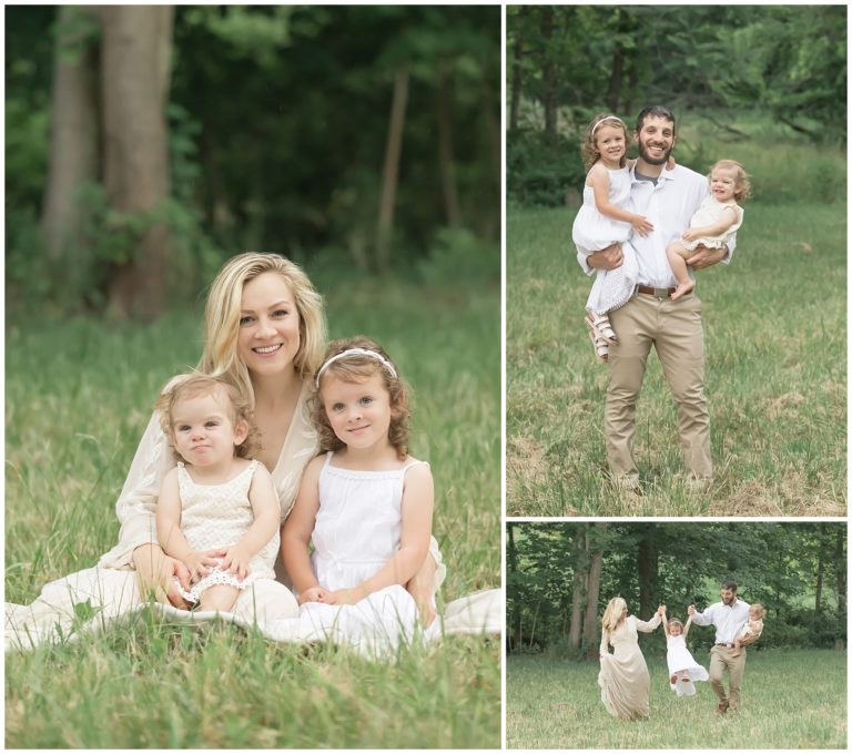 pittsburgh fall family photography, styled family fall session in field