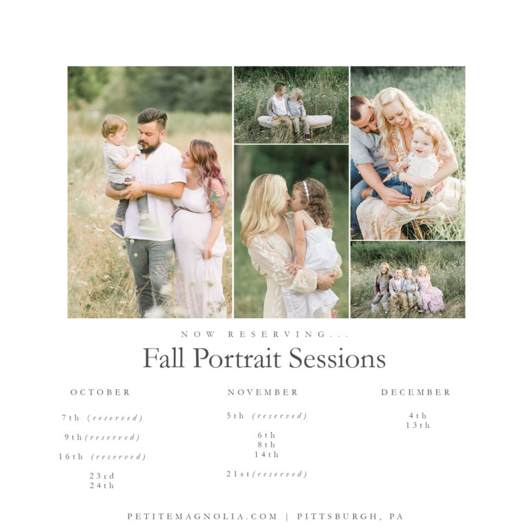 pittsburgh fall family sessions 2019 | petite magnolia photography