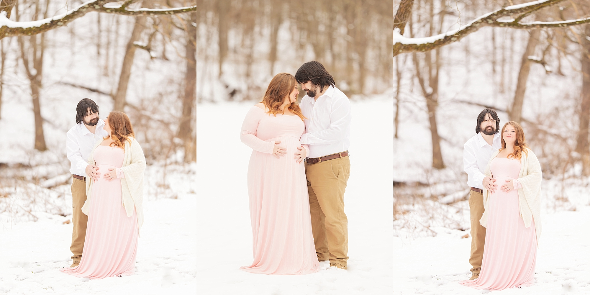 Snowy Pittsburgh Maternity Session