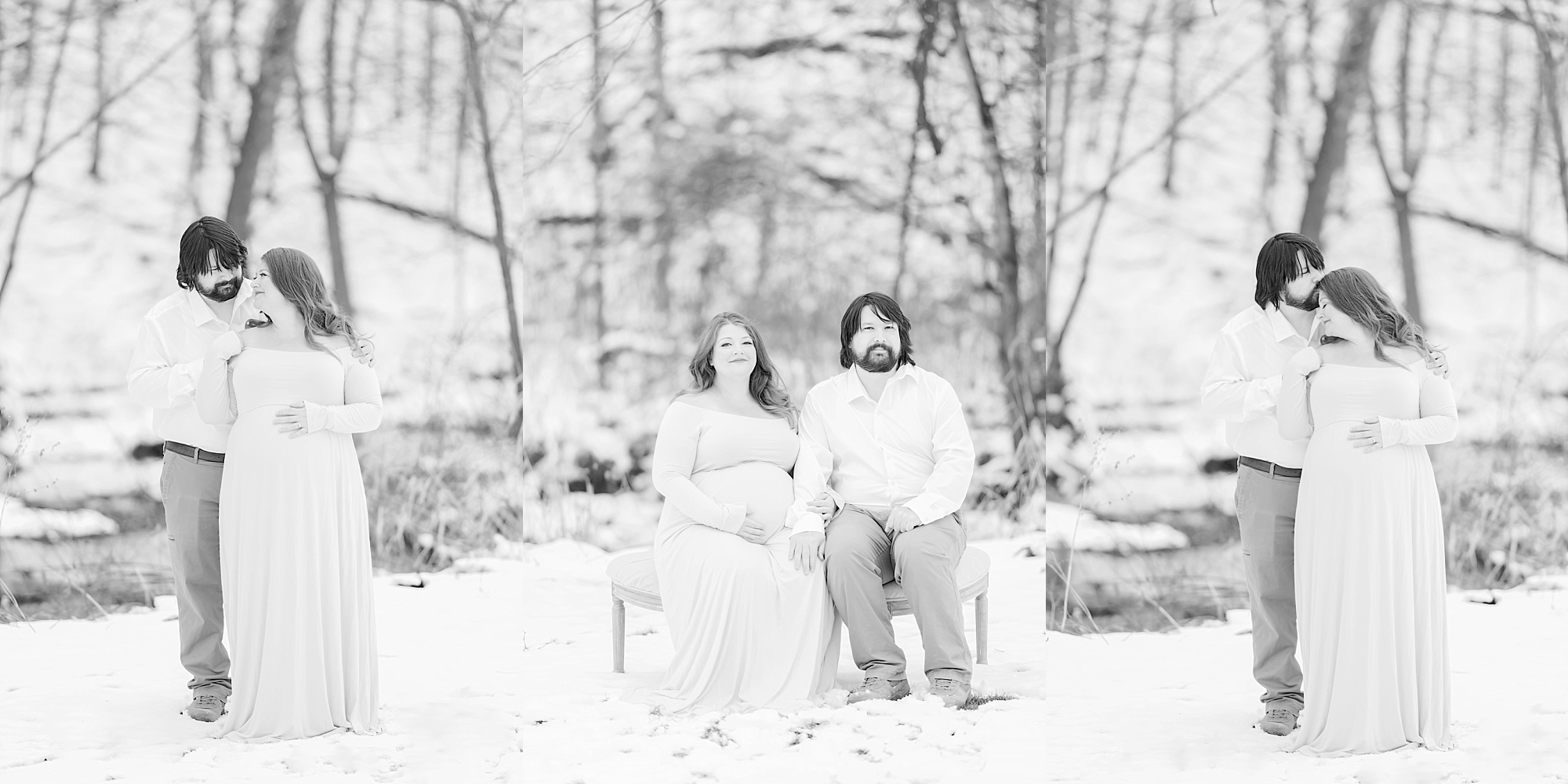 Snowy Pittsburgh PA Maternity Session