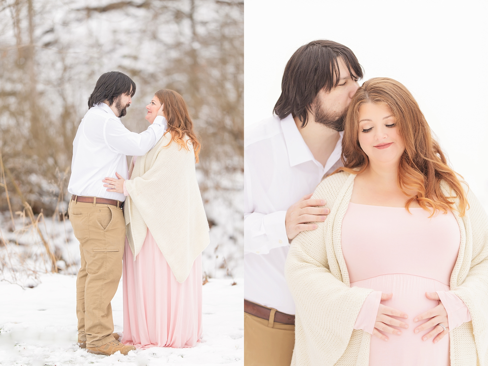 Winter Wonderland maternity photo shoot