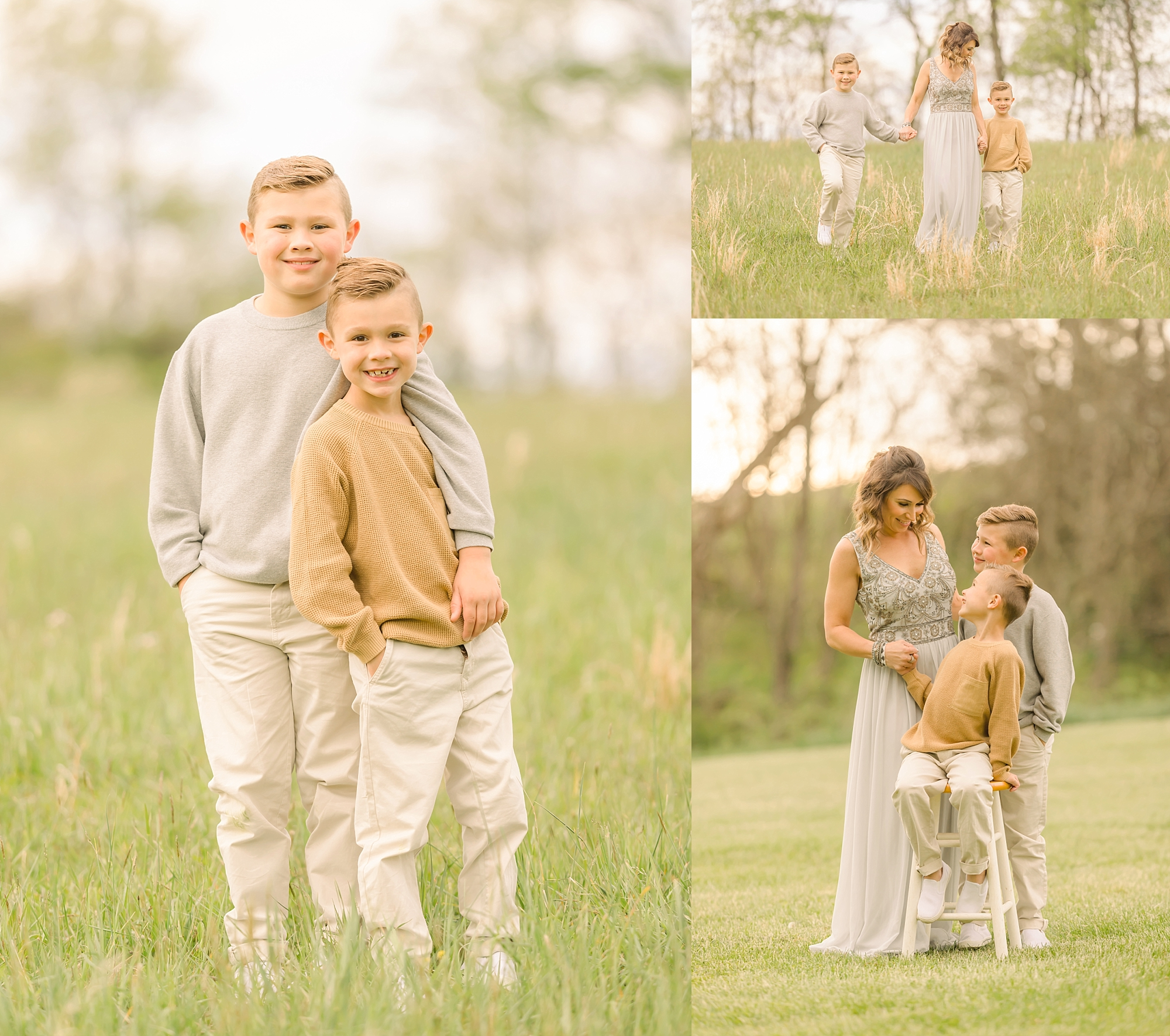 Mother And Sons Photo Session