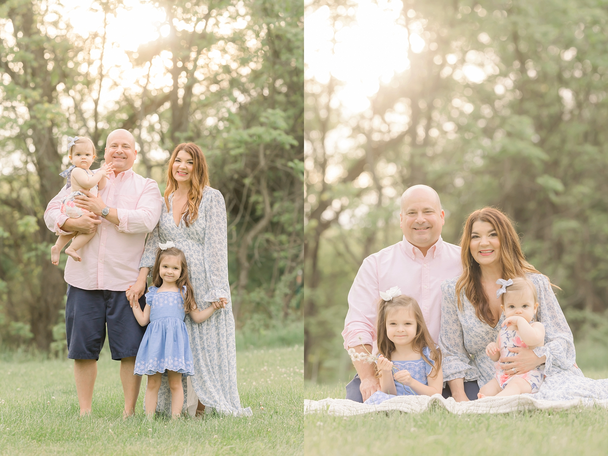 Pittsburgh family milestone portrait session