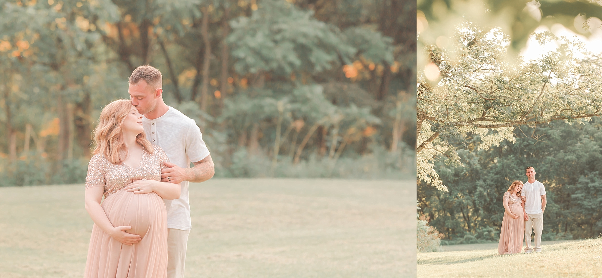 Pittsburgh PA outdoor maternity photography session
